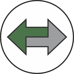 Two arrows indicating the transfer of resources between software programs.