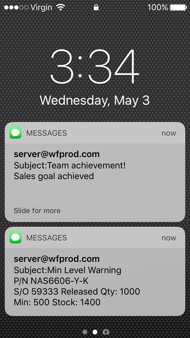 Real-time SMS Notifications